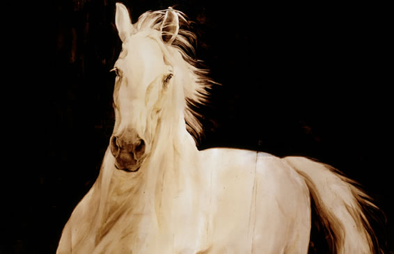 White Horse: an original painting by Kiki Martinez